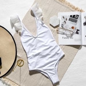 Swim - New Sexy White Open back Onepiece Swimsuit